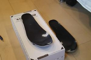 普段履いている靴の中敷きの画像